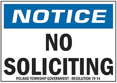 Poland Twp No Soliciting 400